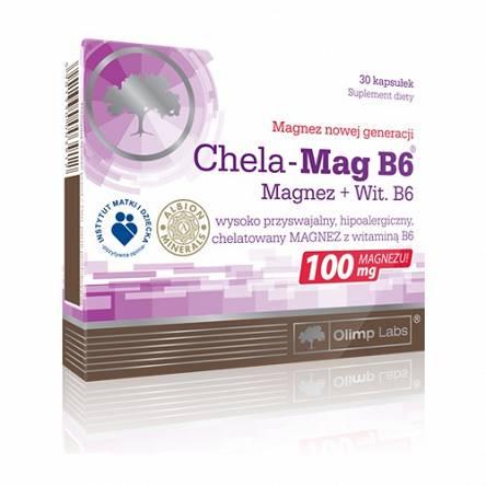 Olimp Chela-Mag B6 MAGNEZ WITAMINA b6 CHELAT 30 kapsułek